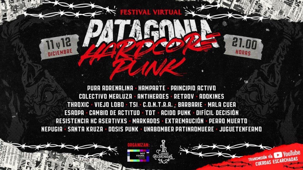 Flyer del festival Patagonia Hardcore-Punk